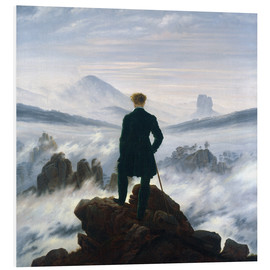 Foam board print  The Wanderer Above the Sea of Fog - Caspar David Friedrich