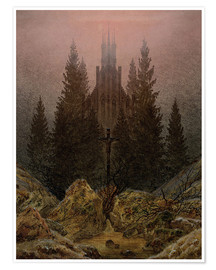 Premium poster  Crucifix in Forest - Caspar David Friedrich