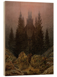 Wood  Crucifix in Forest - Caspar David Friedrich