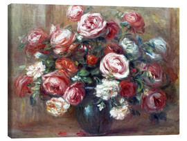 Canvas print  Still life with roses - Pierre-Auguste Renoir