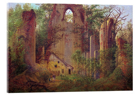 Acrylic glass  Abbey ruin Eldena - Caspar David Friedrich