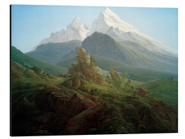 Alu-Dibond  The Watzmann - Caspar David Friedrich