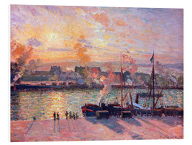 Foam board print  Sunset at Rouen - Camille Pissarro
