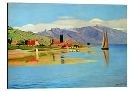 Aluminium print  The port of Pully - Felix Edouard Vallotton