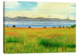 Canvas print  Lake Geneva from Saint-Prex - Ferdinand Hodler