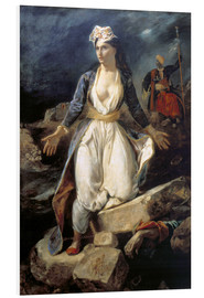 Foam board print  Greece on the Ruins of Missolonghi - Eugene Delacroix