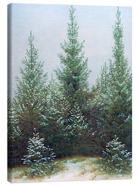 Canvas  Fir Trees in Snow - Caspar David Friedrich