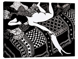 Canvas print  Woodcut - Felix Edouard Vallotton