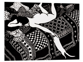 Foam board print  Woodcut - Felix Edouard Vallotton