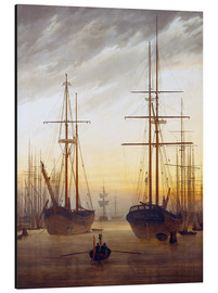 Alu-Dibond  View of a harbor - Caspar David Friedrich