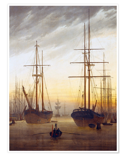 Premium poster View of a harbor