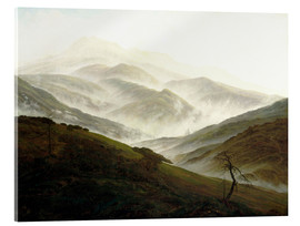 Acrylic glass  Landscape Riesengebirge - Caspar David Friedrich