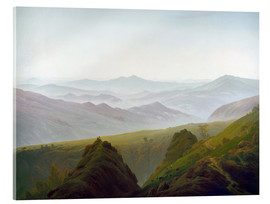 Acrylic print  Morning in the Mountains - Caspar David Friedrich