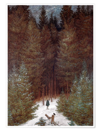 Premium poster Chasseur in the woods