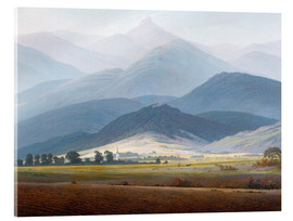 Acrylic glass  Giant Mountain Landscape - Caspar David Friedrich