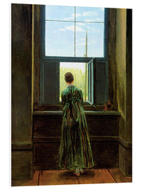 Foam board print  Woman at the window - Caspar David Friedrich