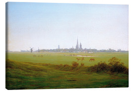 Canvas print  Meadows near Greifswald - Caspar David Friedrich