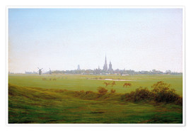 Poster  Meadows near Greifswald - Caspar David Friedrich