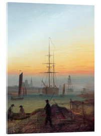 Acrylic glass  Harbour of Greifswald - Caspar David Friedrich