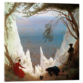 Acrylic glass  Chalk Cliffs on Rügen - Caspar David Friedrich