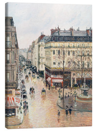 Canvas  The Rue Saint-Honoré in the afternoon - Camille Pissarro