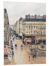 Foam board print  The Rue Saint-Honoré in the Afternoon - Camille Pissarro