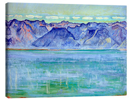 Canvas print  Lake Geneva with Savoyerberge - Ferdinand Hodler