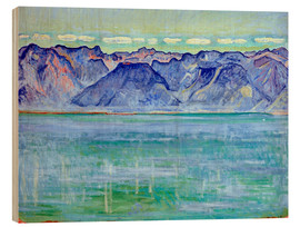 Wood print  Lake Geneva with Savoyerberge - Ferdinand Hodler
