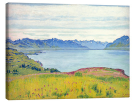 Canvas  Landscape at Lake Geneva - Ferdinand Hodler