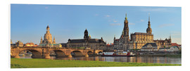 Foam board print  Dresden Canaletto view - FineArt Panorama