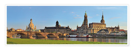 Premium poster  Dresden Canaletto view - FineArt Panorama