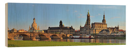 Wood print  Dresden Canaletto view - FineArt Panorama