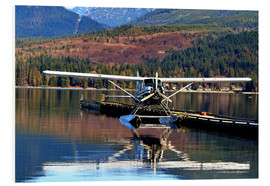Foam board print  Seaplane in Purpoise Bay, Canada - HADYPHOTO