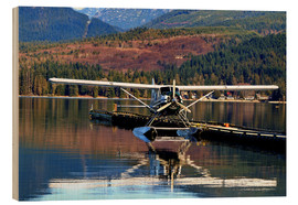 Wood print  Seaplane in Purpoise Bay, Canada - HADYPHOTO