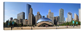 Canvas  Panorama Millenium Park in Chicago mit Cloud Gate - HADYPHOTO by Hady Khandani