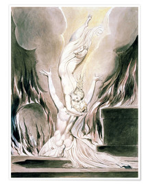 Premium poster  The Reunion of the Soul and the Body - William Blake