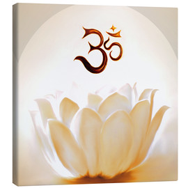 Canvas print  Lotus with Om - Christine Ganz