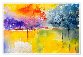 Poster  Abstract landscape - Pol Ledent