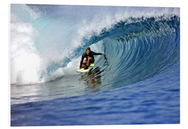 Foam board print  Surfing blue paradise island wave - Paul Kennedy
