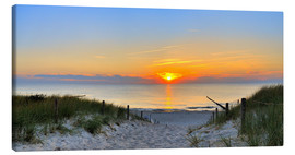 Canvas print  Sunset Panoramic at the beach - Fine Art Images