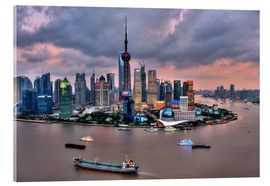 Acrylic print  View of Pudong - Shanghai - HADYPHOTO