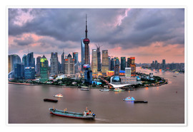 Premium poster  View of Pudong - Shanghai - HADYPHOTO