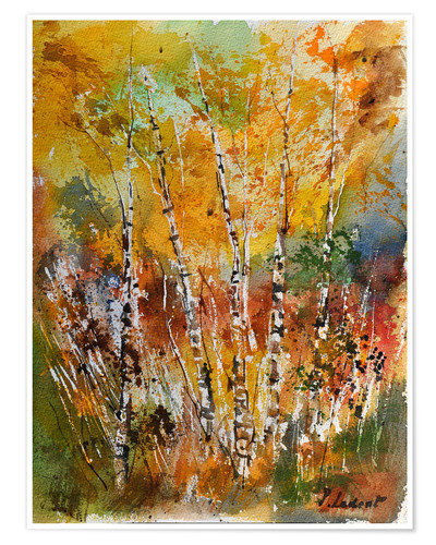 Premium poster little forest of birch trees