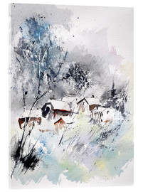 Acrylic print  Winter village - Pol Ledent
