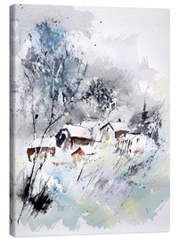 Canvas  Wintry village - Pol Ledent