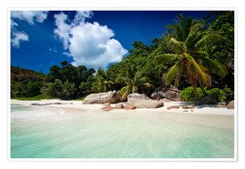 Premium poster Beautiful Beach Seychelles 3