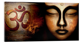Acrylic print  Siddhartha with Om - Christine Ganz