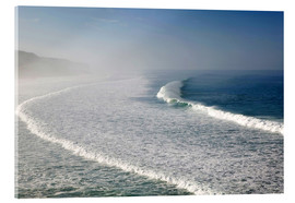 Walter Bibikow - Waves at the coast in the morning mist