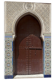 Acrylic print  Wooden door in decorated archway - Nico Tondini