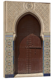 Wood print  Wooden door in decorated archway - Nico Tondini